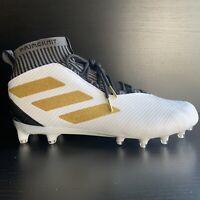 Adidas Freak Ultra Football Cleat White Gold Black F97378 Size 9.5 New Mid Elite