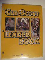 Original BOY SCOUTS of America Cub Scout Leader Book Unbound