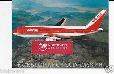 AVIANCA COLUMBIA AIRLINES BOEING 767-200  AIRLINE ISSUE NACH SUDAAMERKA POSTCARD