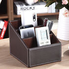 PU Leather Step Organizer Storage Box Key/Pen/Phone/Remote Control Stand Holder