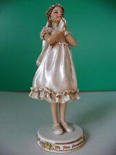 """ My First Communion "" girl figurine by Roman"