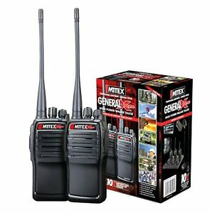 MITEX GENERAL XTREME TWIN PACK UHF 5W LICENSED HANDHELD TWO WAY RADIO