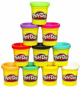 Play-Doh Modeling Compound 2 oz. 10 Pack Case of Assorted Colors Cans Non-Toxic