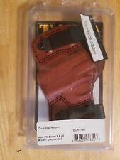 Tagua Gunleather Dual Clip Holster Kahr PM Series 9 & 40 Brown Left Handed DCH11