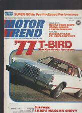 Motor Trend Magazine September 1976 T-Bird Monza Honda Accord Great Race CBs
