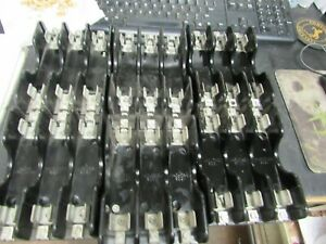 6 - MARATHON 600 VOLT 30/60 AMP FUSE HOLDERS (NICE TAKE OUT)