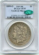 C7486- 1899-O VAM-32 MICRO O TOP 100 MORGAN DOLLAR PCGS VF35 CAC