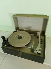Vintage Portable Turntable Valve Fully working   Missing Hinges