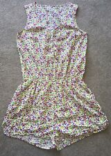 Next Older Girls Floral Pocket Elasticated Playsuit Size 16 Years Holiday