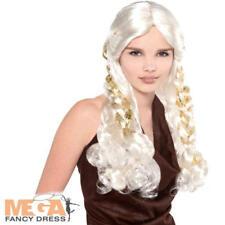 Blonde Braid Wig Ladies Fancy Dress Daenerys Game of Thrones Adults Costume Acc