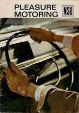 NSU 1966-67 UK Market Brochure Prinz 4 1000 110 TT Sport Coupe Wankel Spider
