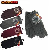 Women Ladies Warm Winter Gloves Touch Screen Pompom Stylish Fashion Design