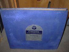 LORTAT / CHOPIN waltzes ( classical ) 5 x 78 - columbia 171 - BLUE RECORD - RARE