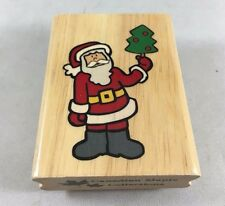 Santa Claus Rubber Stamp Christmas Holiday Canadian Maple Collection Stamp