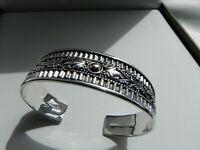 PRISTINE 💎 20g sterling silver 18k 925 BA fully HM Suarti cuff bangle bracelet