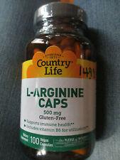 Country Life L-Arginine free form amino acid B6 dietary supplement heart 2017