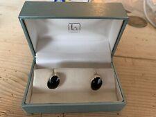 Kit Heath Black Stones Men'S 925 Sterling Silver