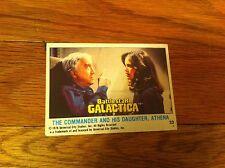 1978 Battlestar Galactica Trading Card #33 Commander And His Daughter Athena