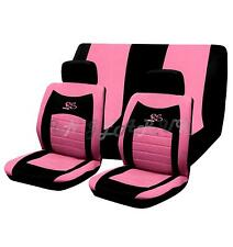 PINK 6pc RS RACING style car seat cover set UNIVERSAL Girly / lady GREAT GIFT