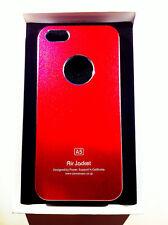 custodia rigida per Apple iPhone 5 5s colore rosso metallizzato in alluminio