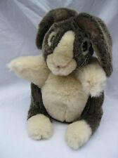 Folkmanis Dutch Rabbit Grey Cream Bunny Plush Hand Puppet Pretend Play Stage