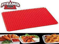 Pyramid Pan Fat Reducing Non Stick Silicone Mould Cooking Mat Oven Baking Tray