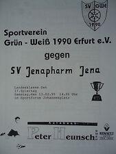 Programm 1999/00 Grün Weiß 1990 Erfurt - SV Jenapharm Jena