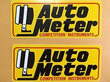 "AUTOMETER Nascar Racing Decals / Stickers 7 7/8"" X 3 1/4"" Lot Of 2"