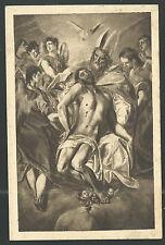Postal antigua de la Santissima Trinidad andachtsbild santino holy card santini
