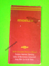 1979 Chevrolet Monza Owners Manual Owner's Guide Book