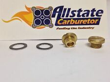 Holley Carburetor Brass Sight Plug Screws Pair ALLSTATE CARBURETOR