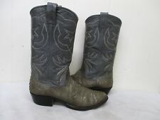 NOCONA Gray Snakeskin Leather Cowboy Boots Mens Size 8 D Style 9052 USA