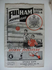 Stoke City Away Team Division 2 Football Programmes