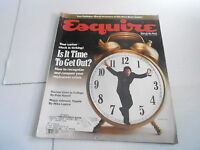 APRIL 1990 ESQUIRE mens fashion magazine TIME TO GET OUT