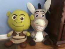 Shrek And Donkey Toy Factory Plush Large 21� Dreamworks Nwt Lot