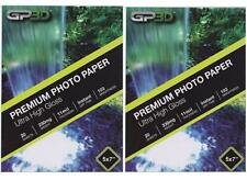 "GP Premium Photo Paper Ultra High Gloss 20 sheets x2 (40 total sheets) 5"" x 7"""