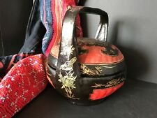 Old Chinese Lacquered Basket …beautiful display and accent piece