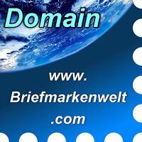 www.briefmarkenwelt.com - Domain / Internet-Adresse / Web-Adresse / URL