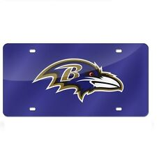 Baltimore Ravens Purple Mirrored Laser Cut License Plate Laser Tag