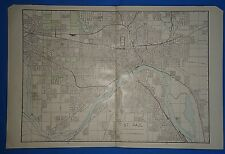 Vintage 1909 Large St. Paul, Minnesota Map Old Antique Original Atlas Map 111318