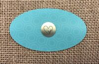 Authentic Origami Owl Silver Medium Love w/ Heart Plate - NEW