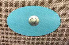 w/ Heart Plate - New Authentic Origami Owl Silver Medium Love