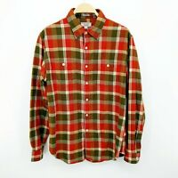 J Crew Wallace & Barnes Midweight Flannel Shirt in Rustic Plaid Size Large Mens