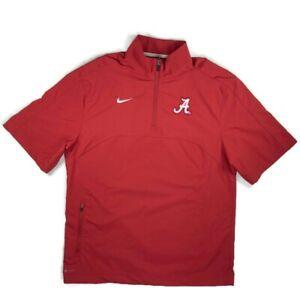 Nike DriFit Mens Windshirt Size Small Alabama Crimson Tide Shortsleeved 1/4 Zip