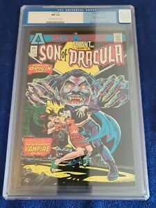FRIGHT #1, CGC NM 9.4, Son of Dracula Origin Thorne-a, ATLAS OW/W Pages!