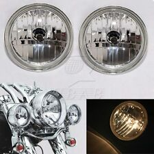 "Diamond Cut Ice Auxiliary 4-1/2"" Passing Lamp Spot Fog Side Lights For Harley"