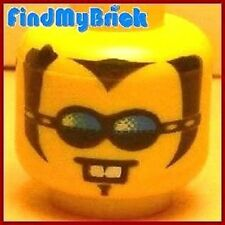 H086B Lego Head with Blue Glasses & White Teeth NEW