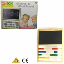 Woodworks Abacus and Chalkboard Traditionally Crafted 18+ Months