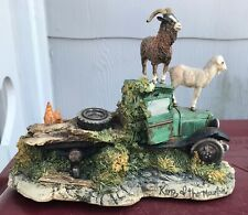 """signed Le 477 of 750 Lowell Davis """"King of the Mountain"""" pickup truck goats"""