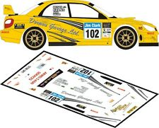 DECALS 1/43 SUBARU IMPREZA WRC - #102 - EVANS - JIM CLARK RALLY 2012 - D43166